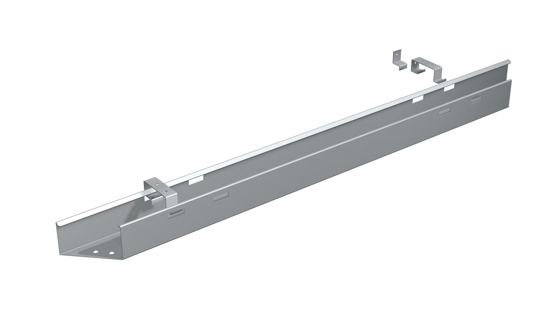 Kabelkanal zur Befestigung an der Tischplatte - N-555912-S - Elektro Pro
